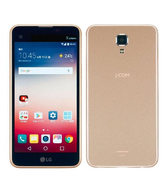 【中古】【安心保証】 SIMフリー LG X screen LG302 シャンパンゴールド