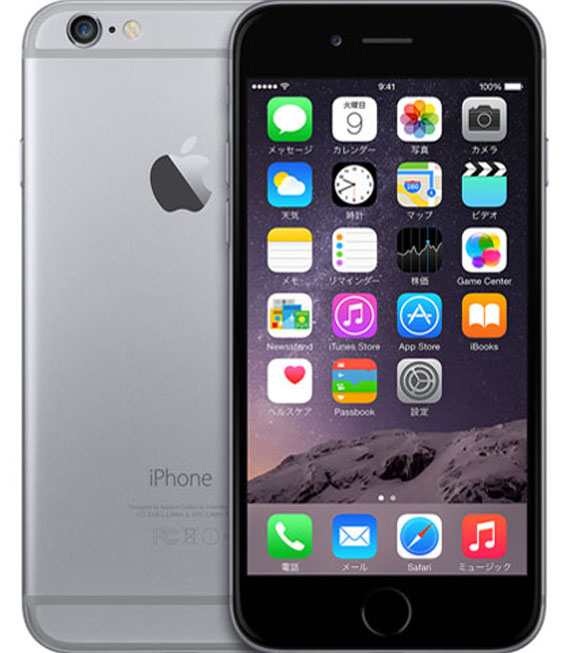 【中古】【安心保証】 SIMフリー iPhone6[海外64G] スペースグレイ