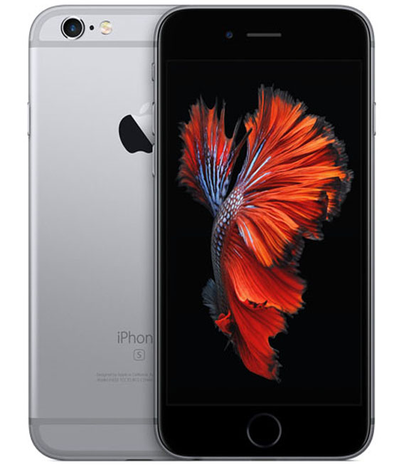【中古】【安心保証】 au iPhone6s[32G] スペースグレイ SIMロック解除済