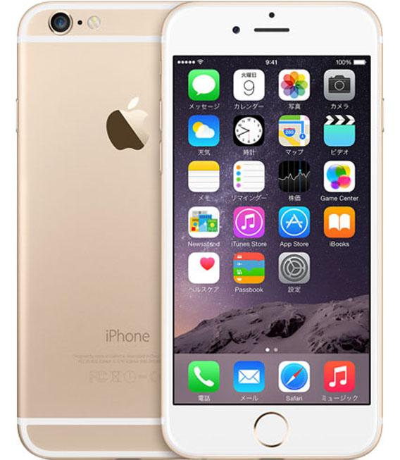 【中古】【安心保証】 SIMフリー iPhone6[海外64G] ゴールド