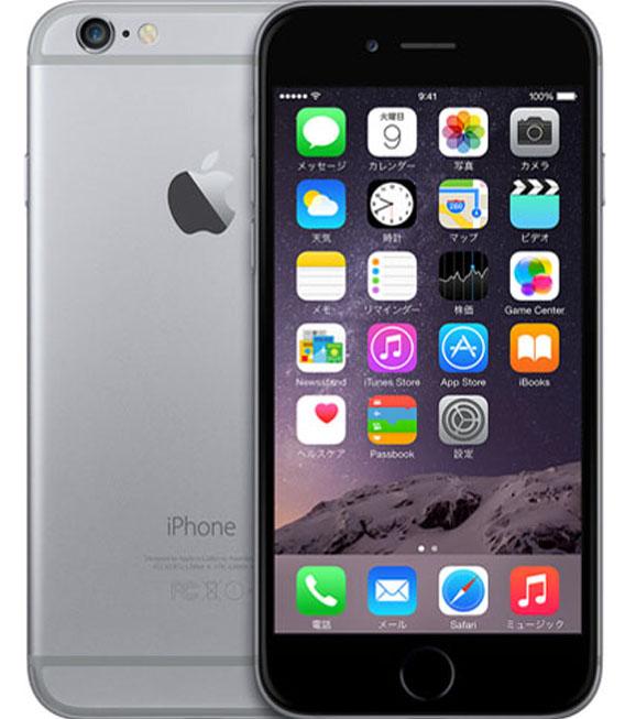【中古】【安心保証】 SIMフリー 海外版 iPhone6 128GB スペースグレイ