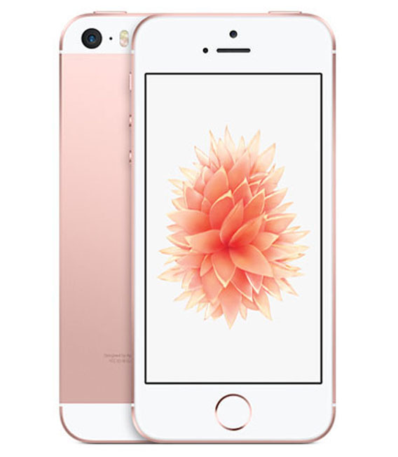 【中古】【安心保証】 SIMフリー iPhoneSE[64G] ローズゴールト