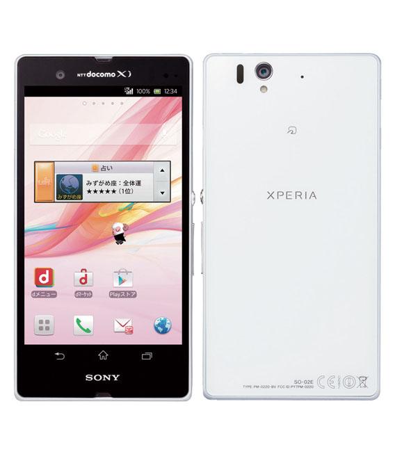 【中古】【安心保証】 docomo Mobile Xperia Z SO-02E ホワイト SIMロック解除済