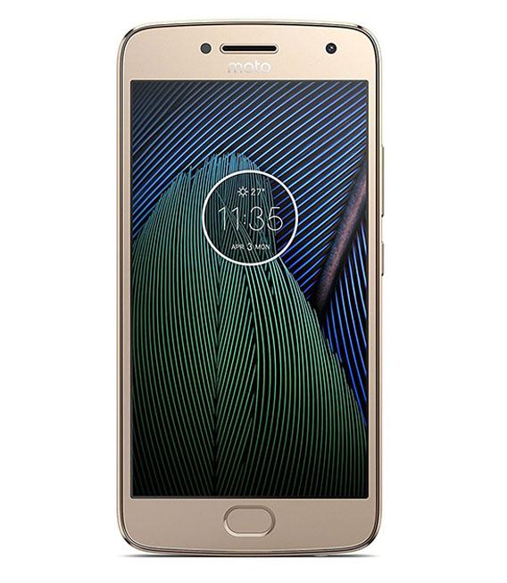 【中古】【安心保証】 SIMフリー MotoG5Plus[32G] ファインゴールド
