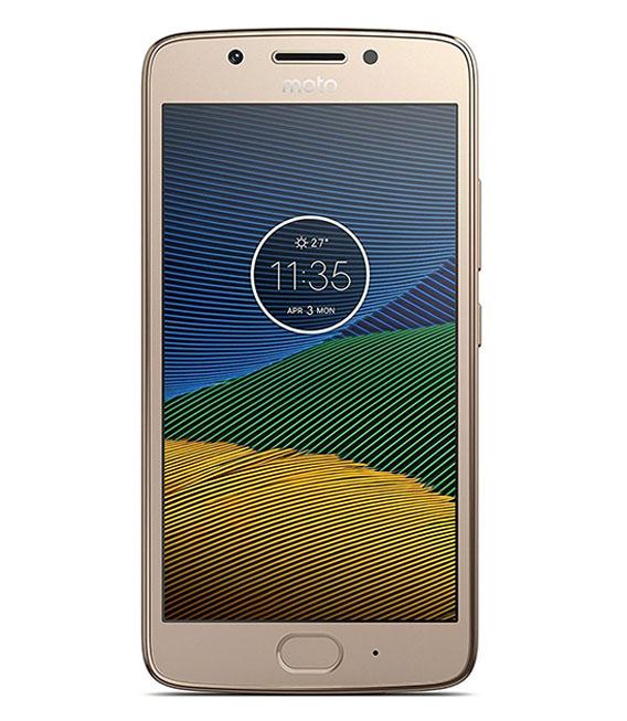 【中古】【安心保証】 SIMフリー MotoG5[16GB] ファインゴールド
