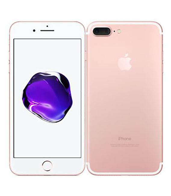 【中古】【安心保証】 SIMフリー iPhone7Plus[256G] ローズ