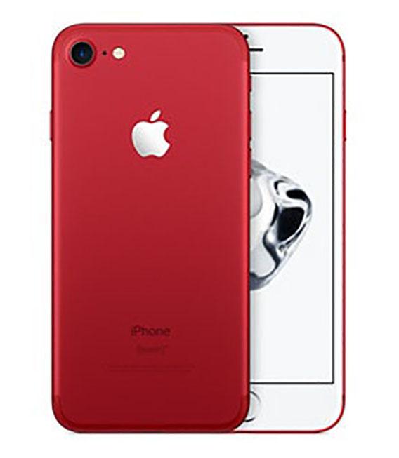 【中古】【安心保証】 au iPhone7 256GB レッド SIMロック解除済