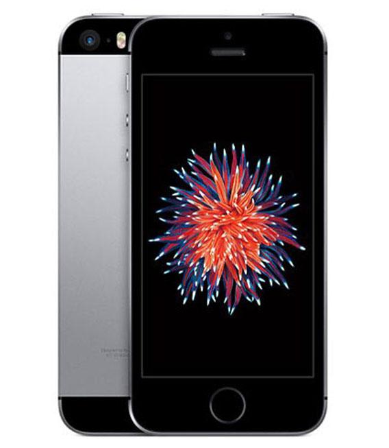 【中古】【安心保証】 au iPhoneSE[128G] スペースグレイ SIMロック解除済