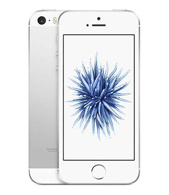 【中古】【安心保証】 UQモバイル iPhoneSE[32G] シルバー SIMロック解除済