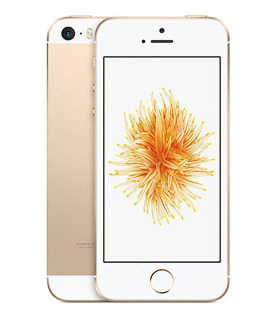【中古】【安心保証】 UQモバイル iPhoneSE[32G] ゴールド SIMロック解除済
