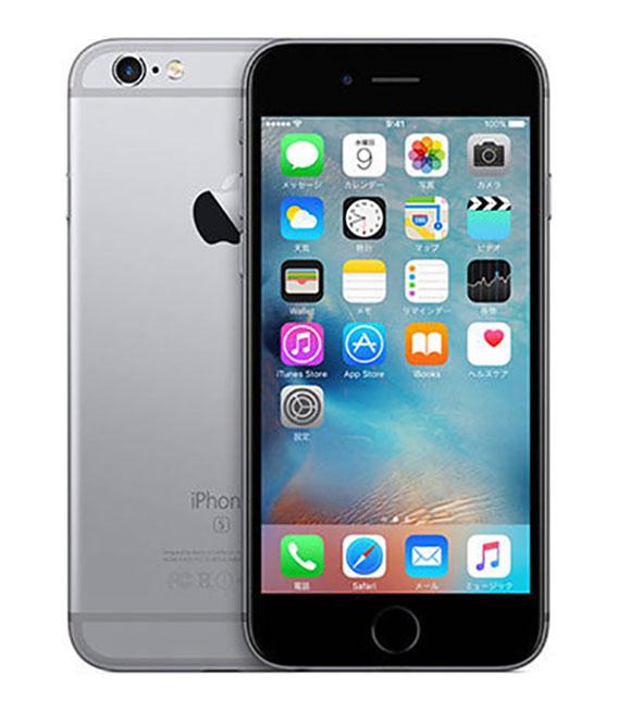 【中古】【安心保証】 SoftBank iPhone6s[32G] スペースグレイ