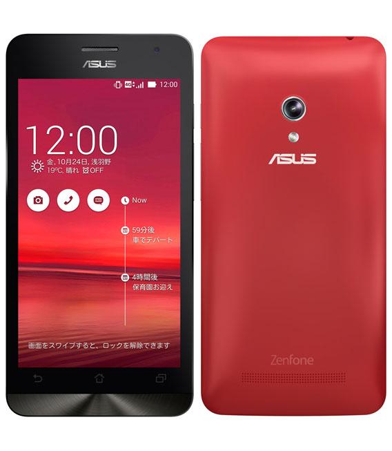 【中古】【安心保証】 SIMフリー ZenFone5_2014[32G] レッド