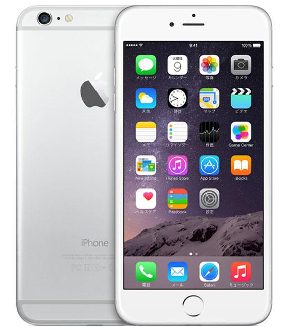 【中古】【安心保証】 docomo iPhone6Plus[128GB] シルバー
