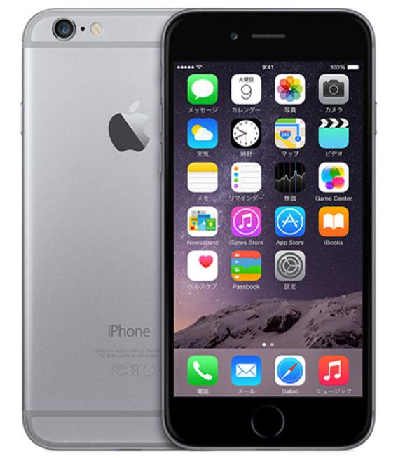 【中古】【安心保証】au iPhone6[16G] スペースグレイ