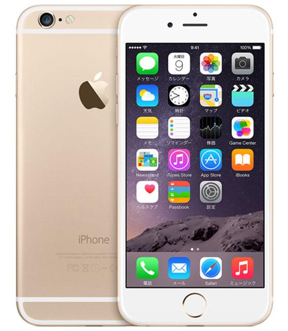 【中古】【安心保証】au iPhone6[16G] ゴールド