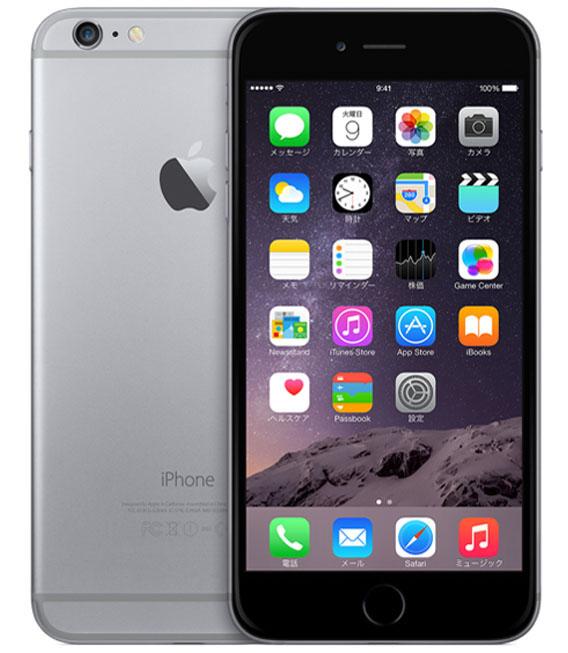 【中古】【安心保証】au iPhone6Plus[64G] スペースグレイ