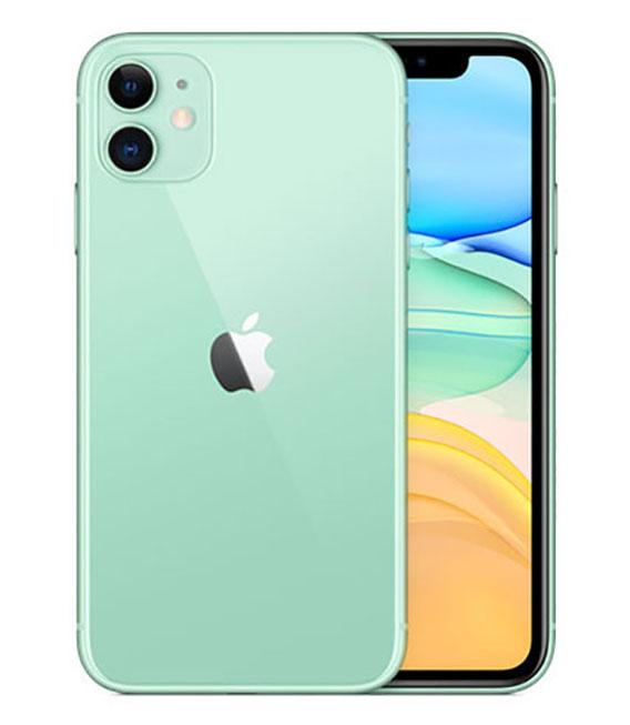 【中古】【安心保証】 SIMフリー iPhone11[128G] グリーン