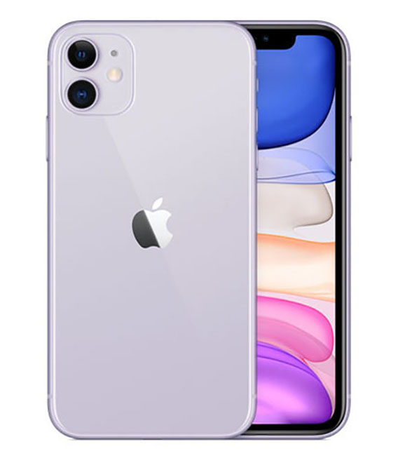 【中古】【安心保証】 au iPhone11[128G] パープル