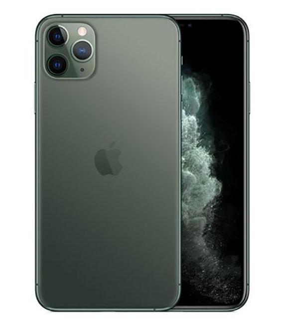 【中古】【安心保証】 au iPhone11 Pro Max[64G] グリーン SIMロック解除済