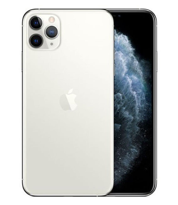 【中古】【安心保証】 SoftBank iPhone11 Pro Max[256G] Silver SIMロック解除済