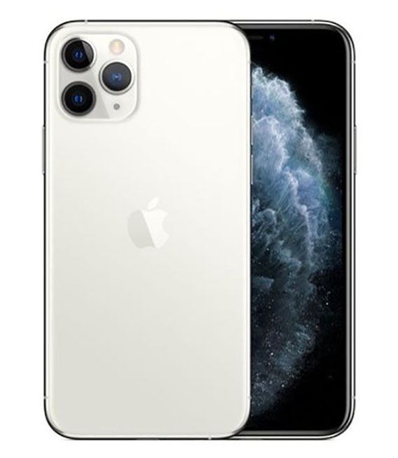 【中古】【安心保証】 au iPhone11 Pro[512G] シルバー