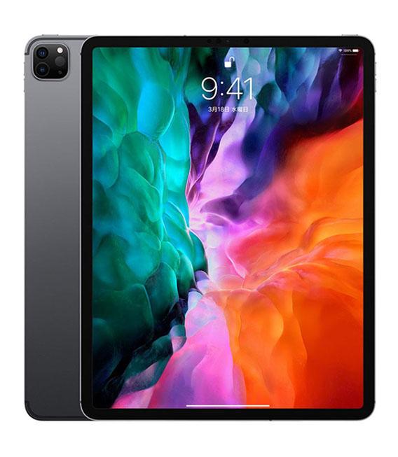 【中古】【安心保証】 au iPadPro-12.9_4[セルラー1T] スペースグレイ