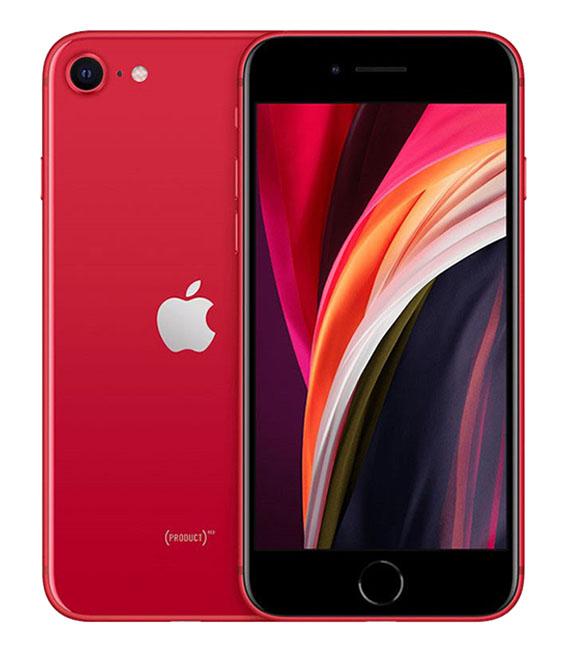 【中古】【安心保証】 docomo iPhoneSE 第2世代[128G] レッド SIMロック解除済
