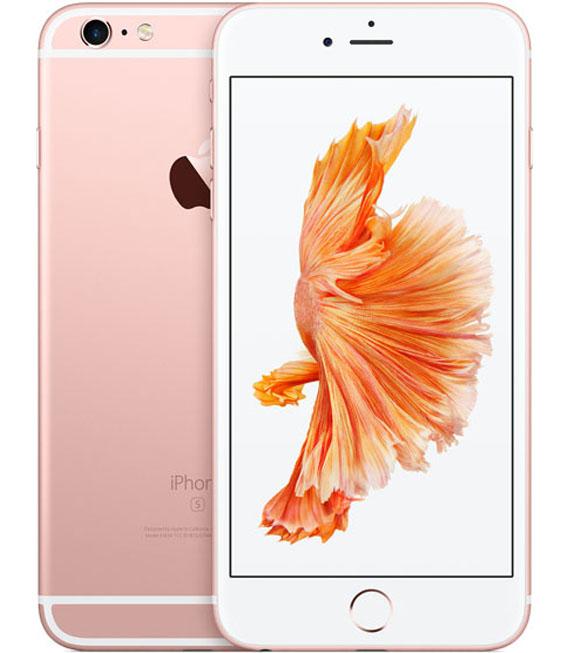 【中古】【安心保証】 au iPhone6sPlus[128G] ローズ SIMロック解除済