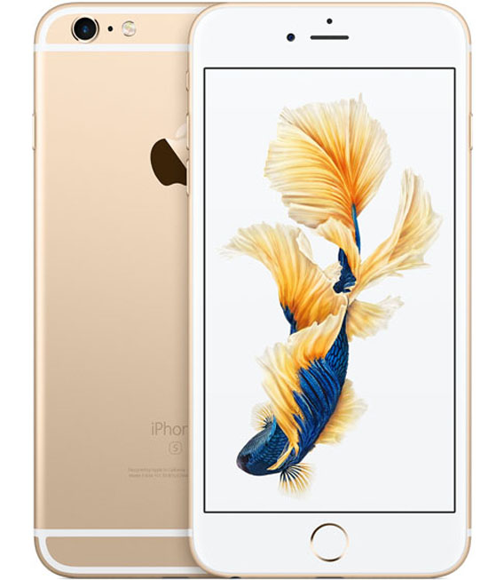 【中古】【安心保証】 au iPhone6sPlus[128G] ゴールド SIMロック解除済