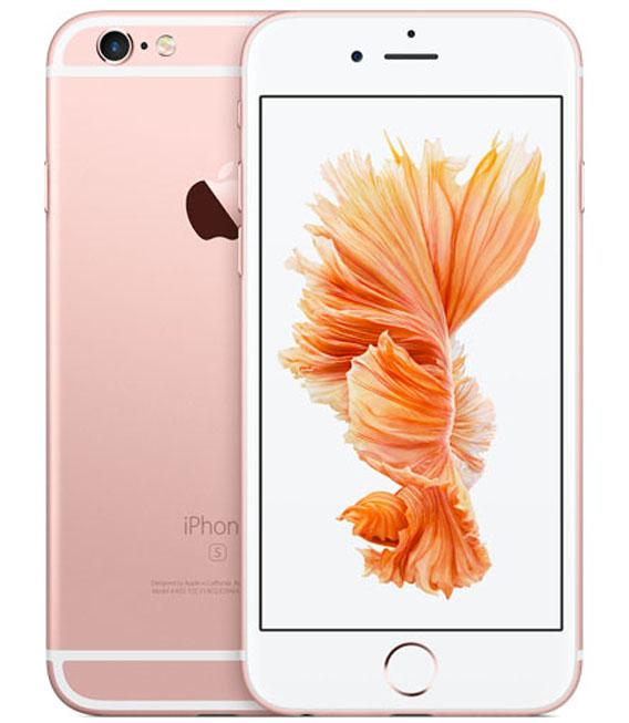 【中古】【安心保証】 au iPhone6s 64GB ローズゴールド SIMロック解除済