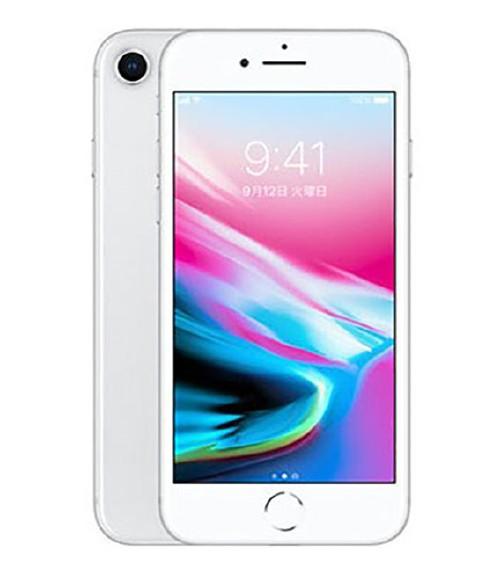 【中古】【安心保証】 au iPhone8[256GB] シルバー