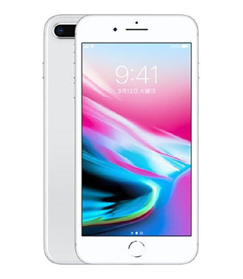 【中古】【安心保証】 au iPhone8Plus[256GB] シルバー