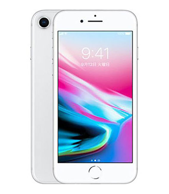【中古】【安心保証】 SoftBank iPhone8[64G] シルバー
