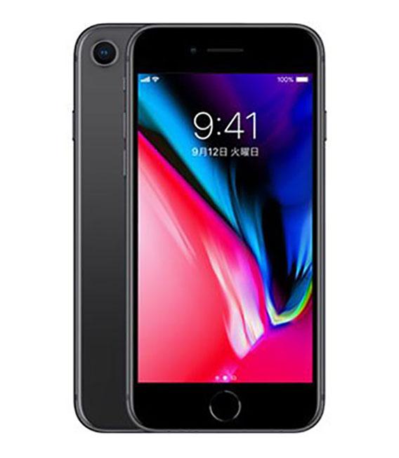 【中古】【安心保証】au iPhone8[256G] スペースグレイ