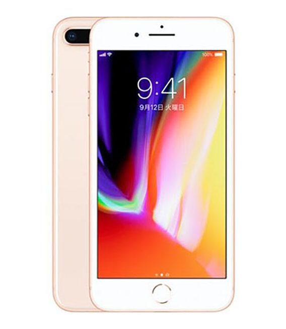 【中古】【安心保証】au iPhone8Plus[64G] ゴールド