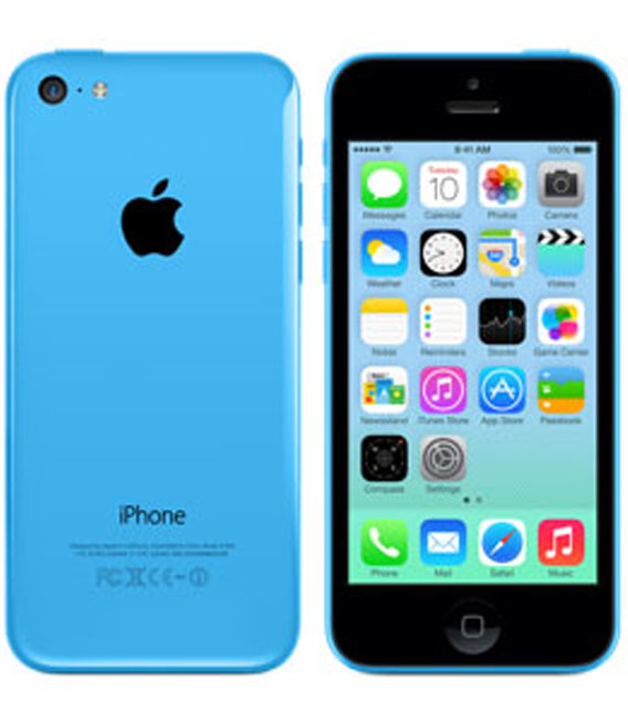 【中古】【安心保証】 au iPhone5c[16GB-a] ブルー