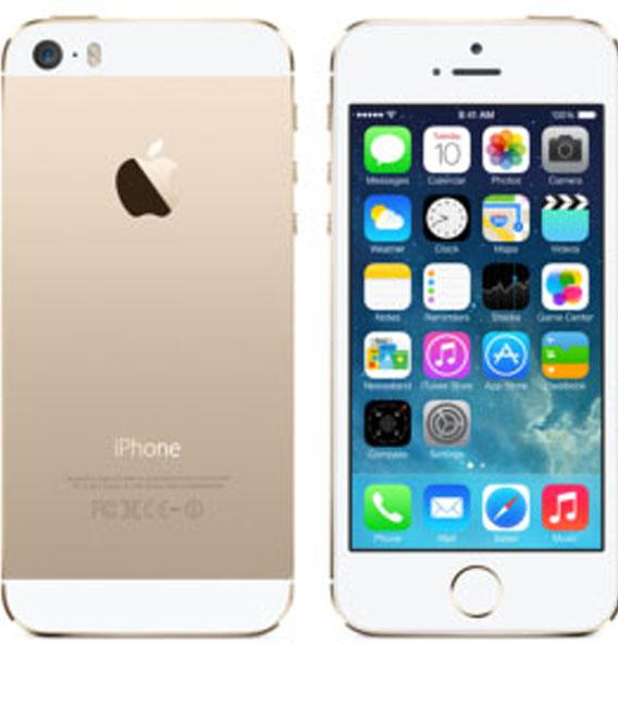 【中古】【安心保証】au iPhone5s[32G] ゴールド