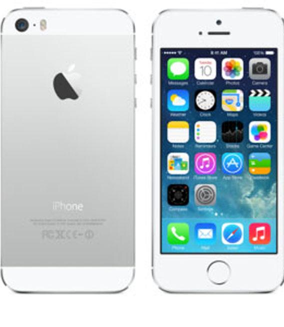 【中古】【安心保証】au iPhone5s[64G] シルバー