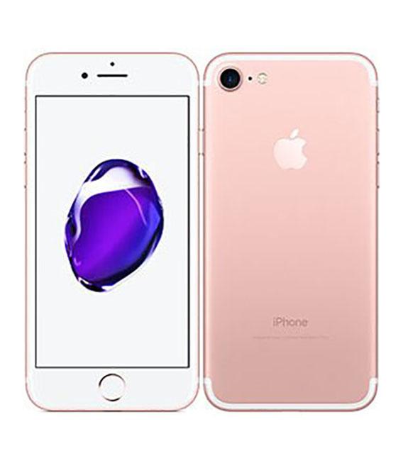 【中古】【安心保証】 au iPhone7[128G] ローズゴールド SIMロック解除済