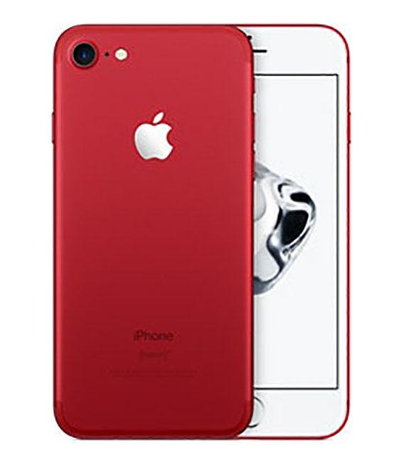 【中古】【安心保証】 docomo iPhone7[256GB] レッド
