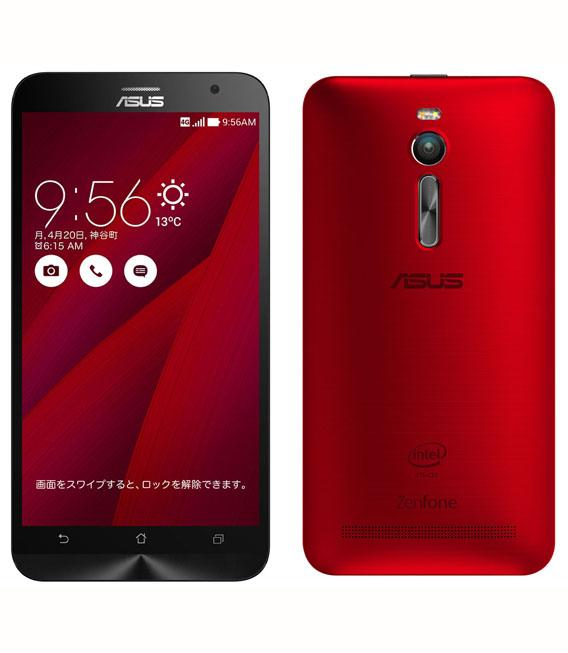 【中古】【安心保証】 SIMフリー ZenFone2[64G4G] レッド
