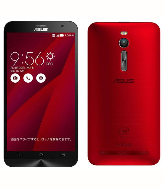 【中古】【安心保証】 SIMフリー ZenFone2[32G4G] レッド