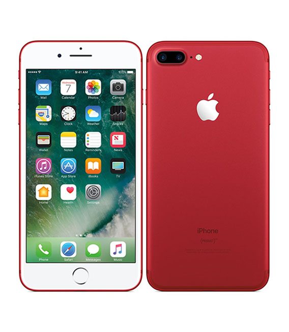 【中古】【安心保証】 docomo iPhone7Plus[256G] レッド SIMロック解除済