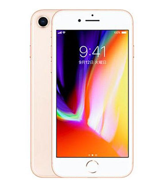 【中古】【安心保証】 docomo iPhone8[256G] ゴールド SIMロック解除済