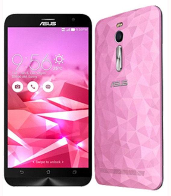 【中古】【安心保証】 SIMフリー ZenFone2Deluxe[16G] ピンク