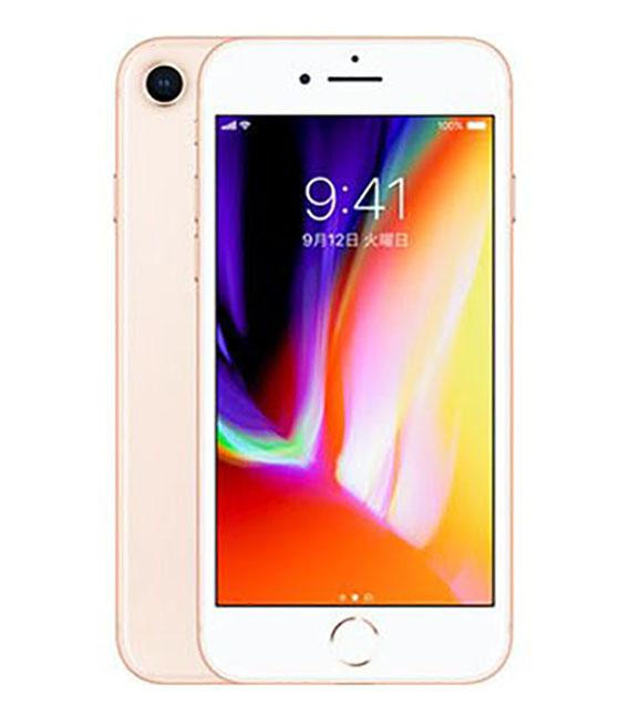 【中古】【安心保証】 au iPhone8 64GB ゴールド SIMロック解除済