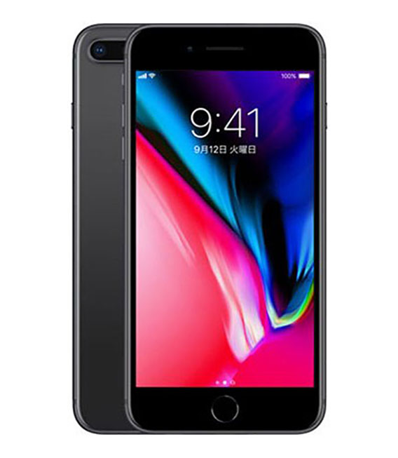 【中古】【安心保証】 docomo iPhone8Plus[64G] スペースグレイ SIMロック解除済