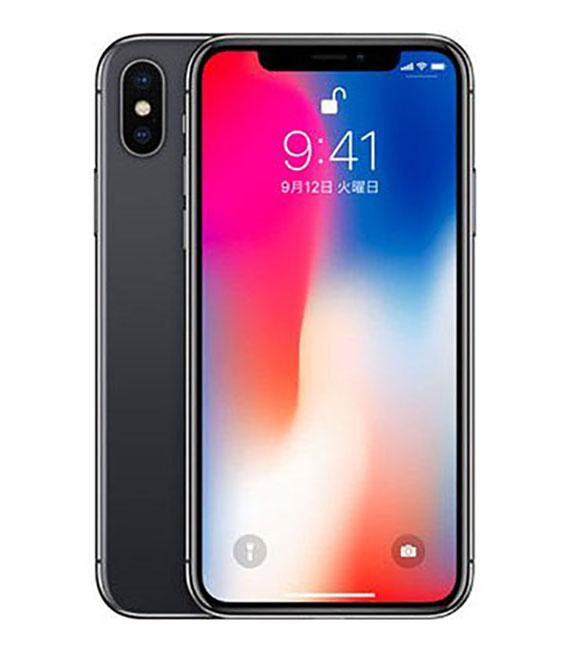 【中古】【安心保証】 docomo iPhoneX 64GB スペースグレー SIMロック解除済