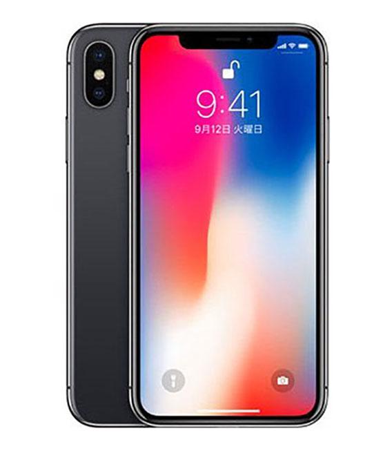 【中古】【安心保証】 docomo iPhoneX 256GB スペースグレー SIMロック解除済