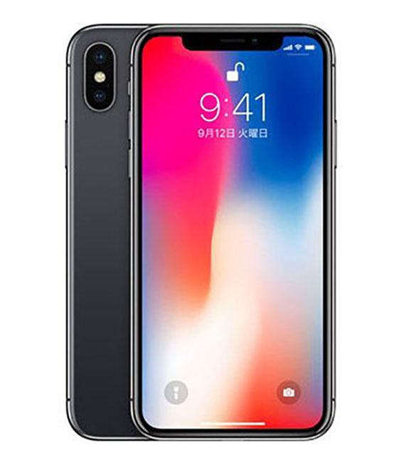 本体 白ロム iPhone Aランク エーユー 中古 64G 保証 au iPhoneX SIMロック解除済 在庫一掃売り切りセール スペースグレイ 安心保証